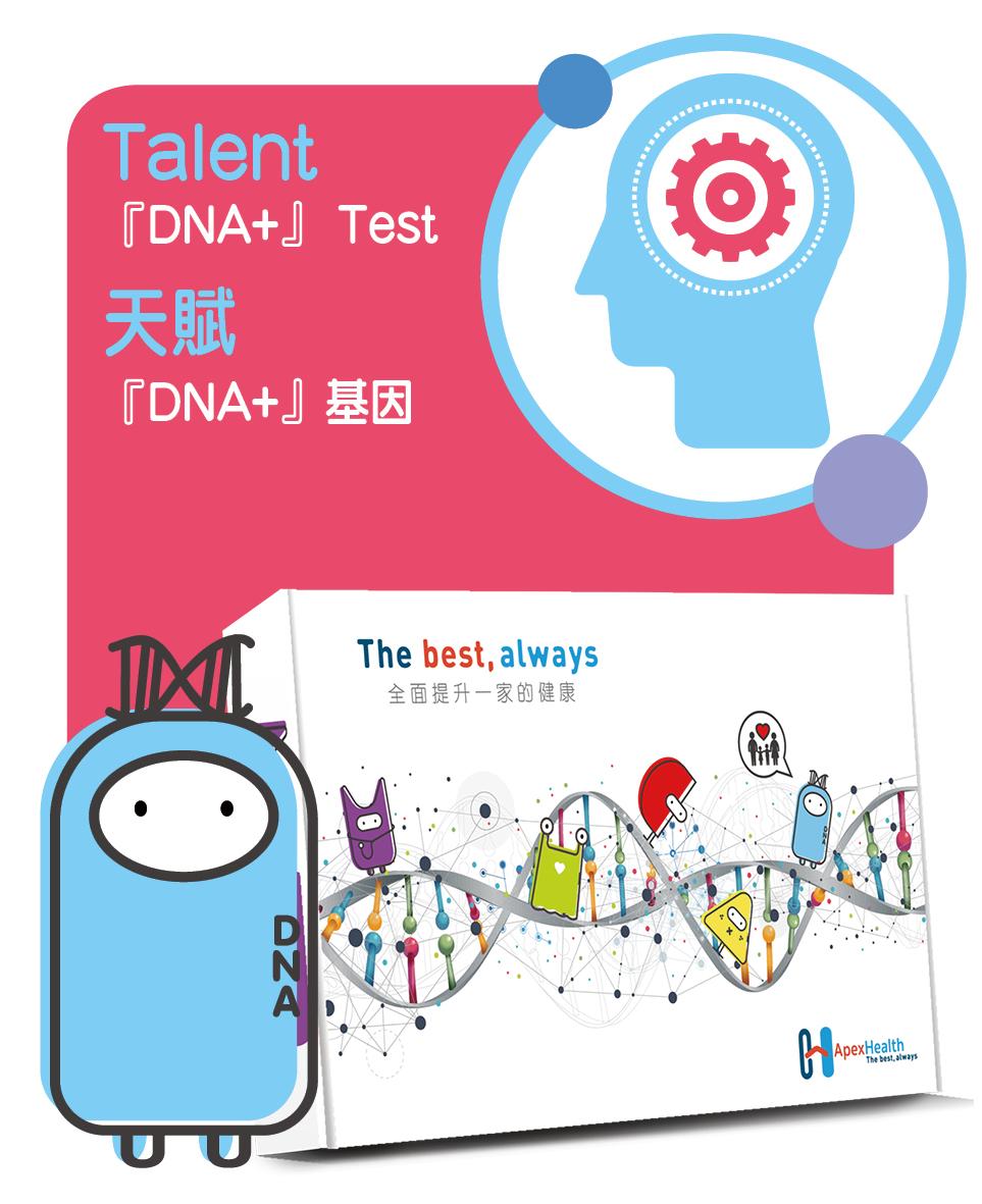 『DNA+』の天賦基因測試 (22項)